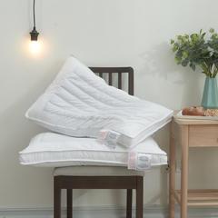 2018新款全棉立体荞麦两用定型羽丝枕芯 48x74cm 白色/只