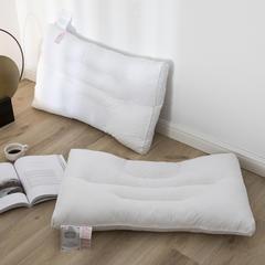 2018新款全棉护颈定型脱卸荞麦保健枕 48x74cm 白色/只