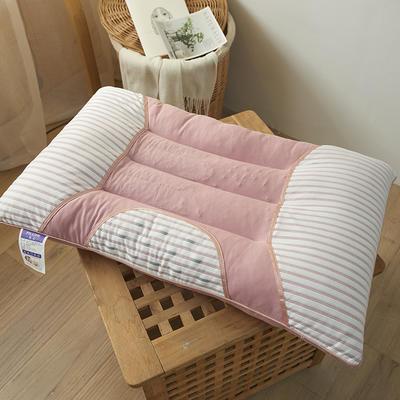 2020新款全棉决明子磁石护颈枕头枕芯48*74 cm/只 粉色