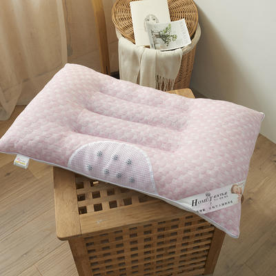 2020新款针织棉决明子磁疗护颈枕头枕芯48*74cm/只 淡粉