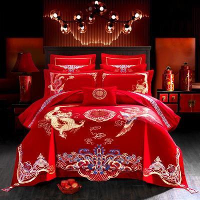2019新款婚庆刺绣系列四件套 夹棉绗绣靠垫/对(60*60cm) 1