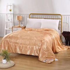 蚕丝被贡缎提花中国风系列 200X230cm4斤 金色