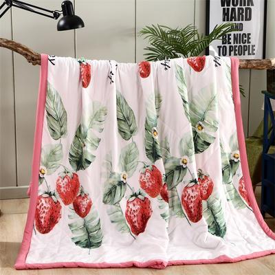 2019新款水洗棉夏被 200X230cm 草莓