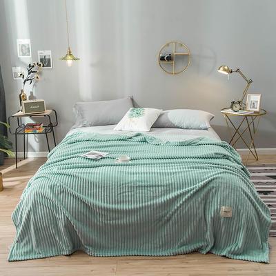 2019新款魔法绒绒毯毛毯 100*120cm 薄荷绿