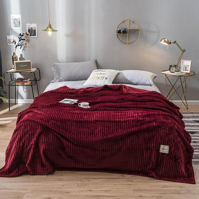 2019新款魔法绒绒毯毛毯 100*120cm 酒红