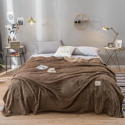 2019新款魔法绒绒毯毛毯 100*120cm 咖啡色
