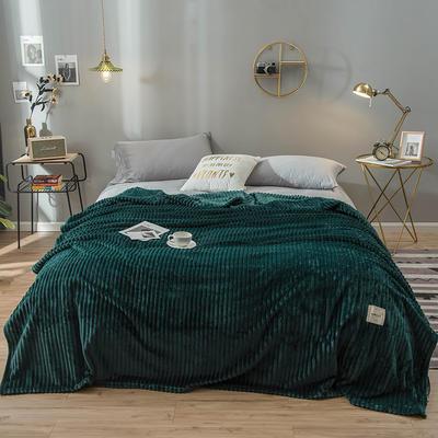 2019新款魔法绒绒毯毛毯 100*120cm 墨绿