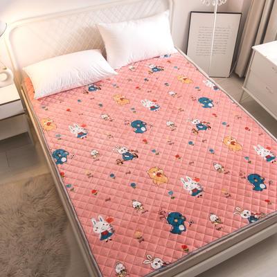 2021新款-法莱绒床护垫可水洗床垫保暖薄床褥学生榻榻米垫子 0.6*120cm 动物世界