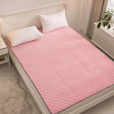 2021新款-法莱绒床护垫可水洗床垫保暖薄床褥学生榻榻米垫子 0.6*120cm 粉色