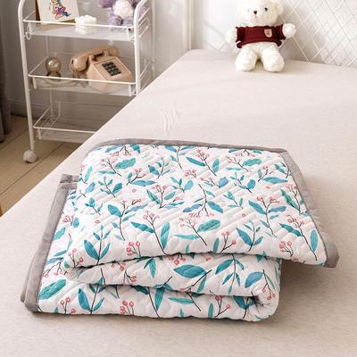 2021新款宽包边13372全棉韩国软床垫床褥 120*200cm 小清新