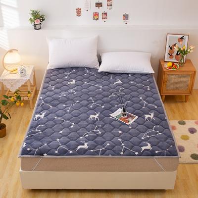 2021可定做加厚牛奶绒夹棉床垫 防滑床褥可机洗褥子冬季保暖床护垫爬爬垫 120*200cm 直角包边-天马星座