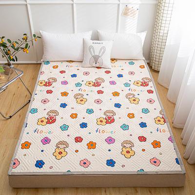 2021新款宽包边13372全棉韩国软床垫床褥 120*200cm 花小妹