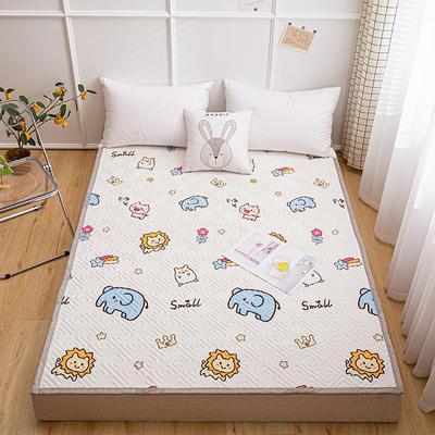 2021新款宽包边13372全棉韩国软床垫床褥 120*200cm 森林王国