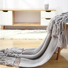 2019新品盖毯--乔伊 125*180cm 烟灰