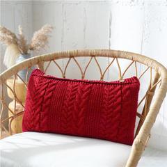 2019新款抱枕--吉赛尔 35X65cm 枣红(含芯)