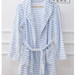 保暖法兰绒精品浴袍睡衣 均码 藏青色
