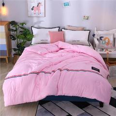 日式水洗棉被子被芯冬被棉被春秋被空调被夏凉被宿舍单双人学生被 200*230cm4斤 粉色