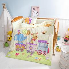 贝兰仙奴家纺    全棉幼儿园套件 30*40cm珍珠棉枕芯 完美旅途-黄