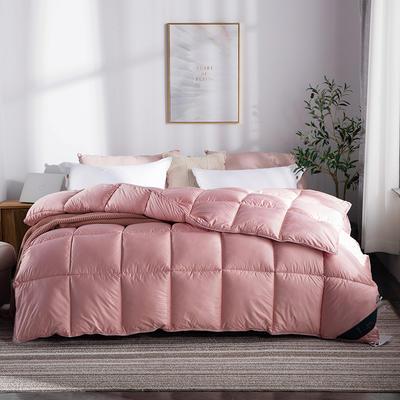 2018新款时尚纯色羽丝被 200X230cm5.4斤 芳菲