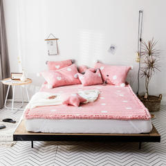 2018新款兔兔绒床垫 100*150cm 粉色