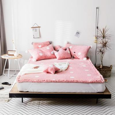 2018新款兔兔绒床垫三件套 单垫子:120*200cm 粉色