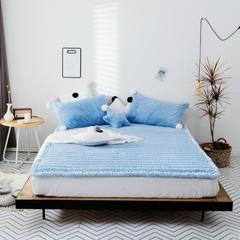 2018新款兔兔绒床垫三件套 单垫子:120*200cm 蓝色