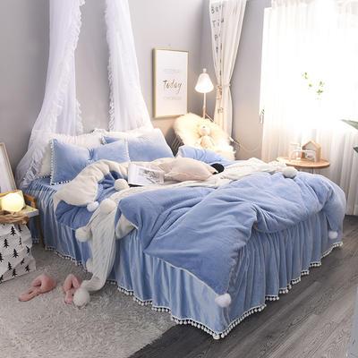 2018新款兔兔绒四件套 1.2m床 天真蓝