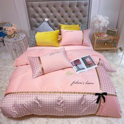 2019新款德芙絨四件套(實拍) 1.5m(5英尺)床單款 粉色