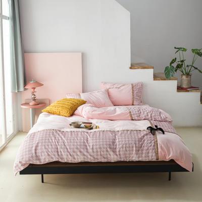 2019新款德芙絨四件套(電子圖) 1.5m(5英尺)床單款 粉色
