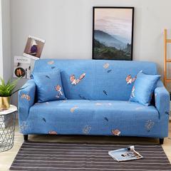 2018新款印花沙发套系列 抱枕套45*45 奔跑的狐狸