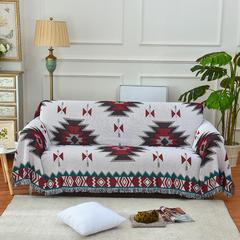 2018新款北欧几何图案沙发毯 90*90 波西米亚