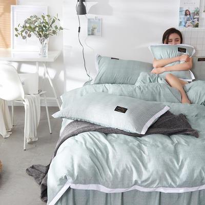 2019新款奢丝棉英伦风四件套 1.2m(4英尺)床单款 橄榄绿