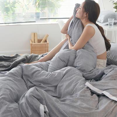 2019新款奢丝棉英伦风四件套 1.2m(4英尺)床单款 闪亮银
