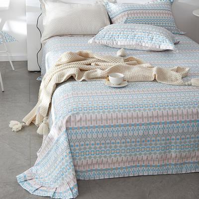 2019新款-全棉13372印花单品床单 160cmx230cm 古普赛纹