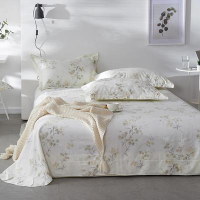 2019新款-全棉13372印花单品床单 160cmx230cm 沙琳