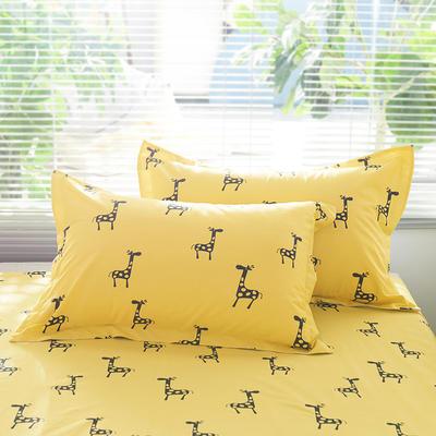 2019新款-全棉13372印花单品枕套 48cmX74cm/一只 鹿骑士