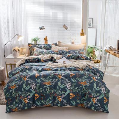 2019新款-全棉13372印花四件套 三件套1.2m(4英尺)床 满园春色