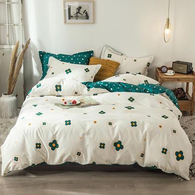 2020新款-小清新ins风四件套 床单款三件套1.2m(4英尺)床 梵克白