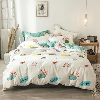 2020新款-小清新ins风四件套 床单款四件套1.5m(5英尺)床 可爱小猪