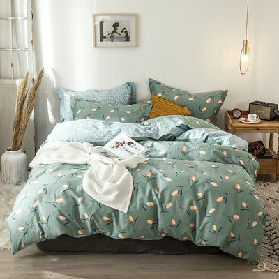 2020新款-小清新ins风四件套 床单款四件套1.5m(5英尺)床 挪威