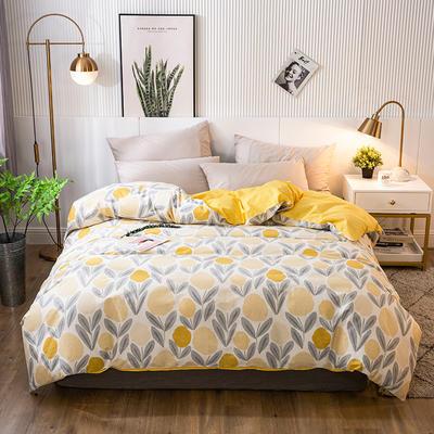 2020年新款-全棉印花单被套 150x200cm 爱柠檬