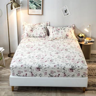 2020年新款-全棉印花单床笠 120X200+25 爱在花开