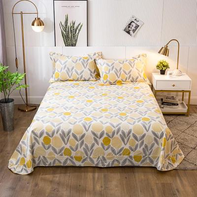 2021年新款-13372印花单床单 180cmx230cm 爱柠檬