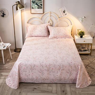 2020年新款-全棉印花单床单 180cmx230cm 安娜-粉