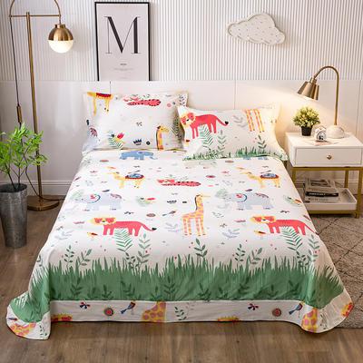 2021年新款-13372印花单床单 180cmx230cm 动物派对