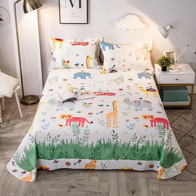 2020年新款-全棉印花单床单 180cmx230cm 动物之森