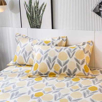 2020年新款-全棉印花单枕套 48cmX74cm/对 爱柠檬