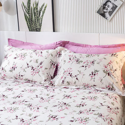 2020年新款-全棉印花单枕套 48cmX74cm/对 幸福之花