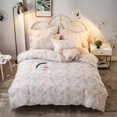2021年新款-全棉13372印花四件套 床单款四件套1.5m(5英尺)床 爱的时光