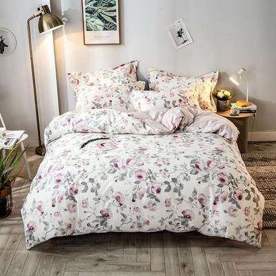 2021年新款-全棉13372印花四件套 床单款四件套1.5m(5英尺)床 爱在花开